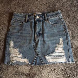 waist size 23 jean skirt from pac sun